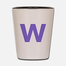 Letter W Purple Shot Glass