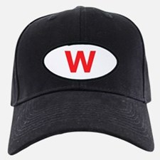 Letter W Red Baseball Hat