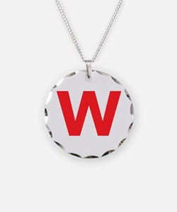 Letter W Red Necklace