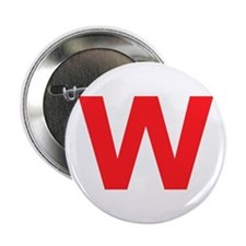 "Letter W Red 2.25"" Button"
