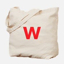 Letter W Red Tote Bag