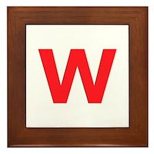 Letter W Red Framed Tile