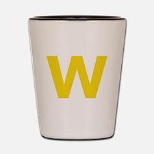Letter W Yellow Shot Glass