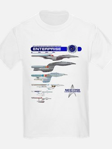 U.s.s. Enterprise Lineage Kids T-Shirt
