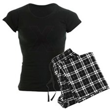 Letter X Black Pajamas