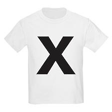 Letter X Black T-Shirt