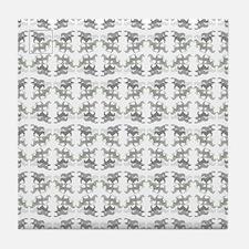 Horse Pattern Tile Coaster