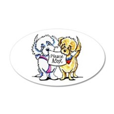 Mighty Mutts Adopt 35x21 Oval Wall Decal