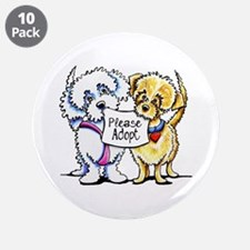 """Mighty Mutts Adopt 3.5"""" Button (10 pack)"""