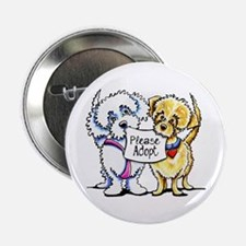 """Mighty Mutts Adopt 2.25"""" Button"""