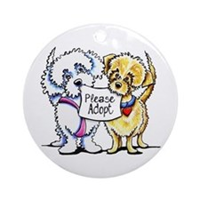 Mighty Mutts Adopt Ornament (Round)