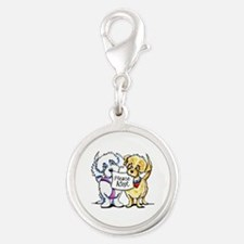 Mighty Mutts Adopt Silver Round Charm