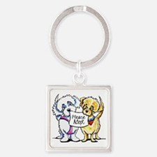 Mighty Mutts Adopt Square Keychain