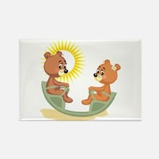 Teeter Totter Teddy Bears Rectangle Magnet (10 pac