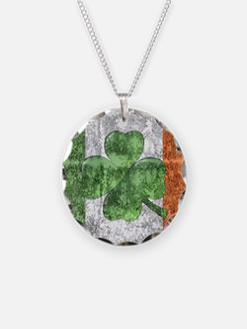 St. Patricks Day Flag Necklace