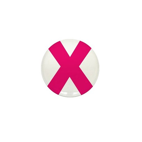 Letter X Pink Mini Button (100 pack)