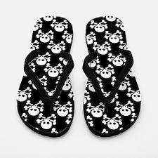 Skull And Crossbones Pattern Flip Flops