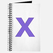 Letter X Purple Journal