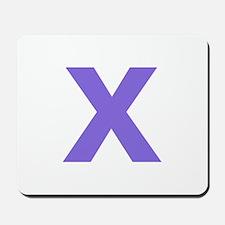 Letter X Purple Mousepad