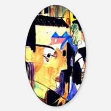 Ernst Ludwig Kirchner Self-Portrait Sticker (Oval)