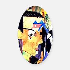 Ernst Ludwig Kirchner Self-Portrai Oval Car Magnet