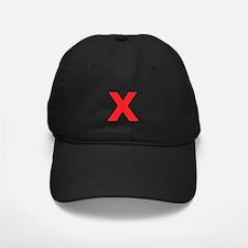 Letter X Red Baseball Hat