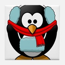 Winter Penguin Tile Coaster