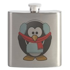 Winter Penguin Flask