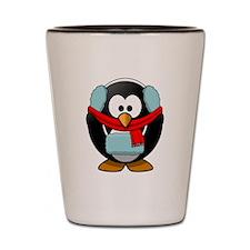 Winter Penguin Shot Glass