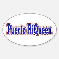 Puerto RiQueen Oval Decal