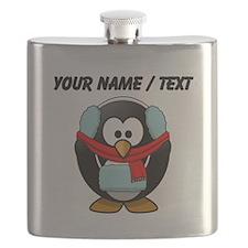 Custom Winter Penguin Flask