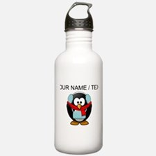 Custom Winter Penguin Water Bottle