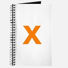 Letter X Orange Journal