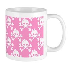 Girl Skull And Crossbones Pattern Small Mug