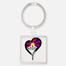 Heart Nation 07 Square Keychain