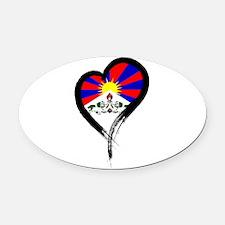 Heart Nation 07 Oval Car Magnet