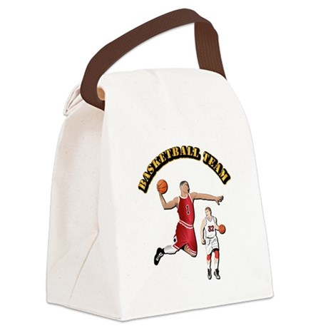 Sports - Basketball Team Canvas Lunch Bag