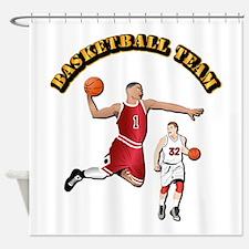 Sports - Basketball Team Shower Curtain