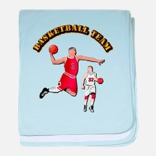 Sports - Basketball Team baby blanket