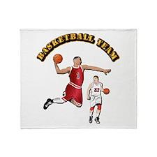 Sports - Basketball Team Throw Blanket
