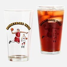 Sports - Basketball Team Drinking Glass