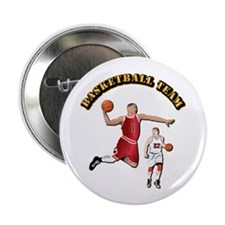"Sports - Basketball Team 2.25"" Button (100 pack)"