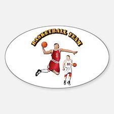 Sports - Basketball Team Sticker (Oval)