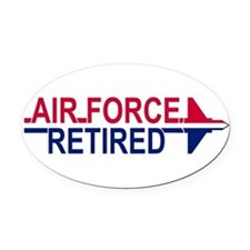 Cute Retired usaf Oval Car Magnet