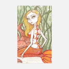 Orange Mermaid Decal