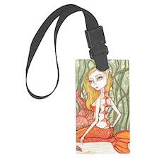Orange Mermaid Luggage Tag