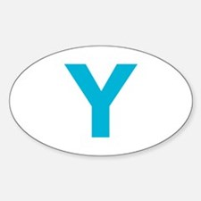 Letter Y Blue Decal