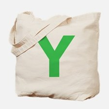 Letter Y Green Tote Bag