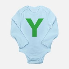 Letter Y Green Body Suit