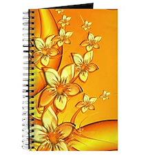 Orange Floral Art Journal